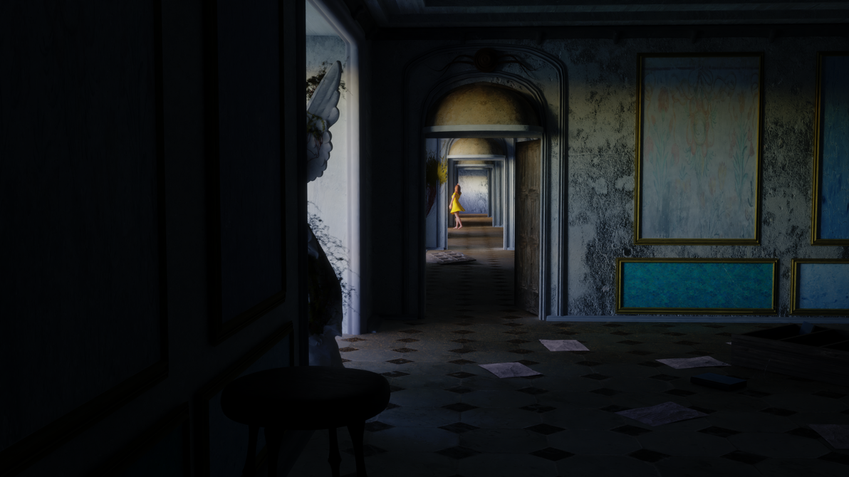 Lost in Abandoned Mansion by seraf-501