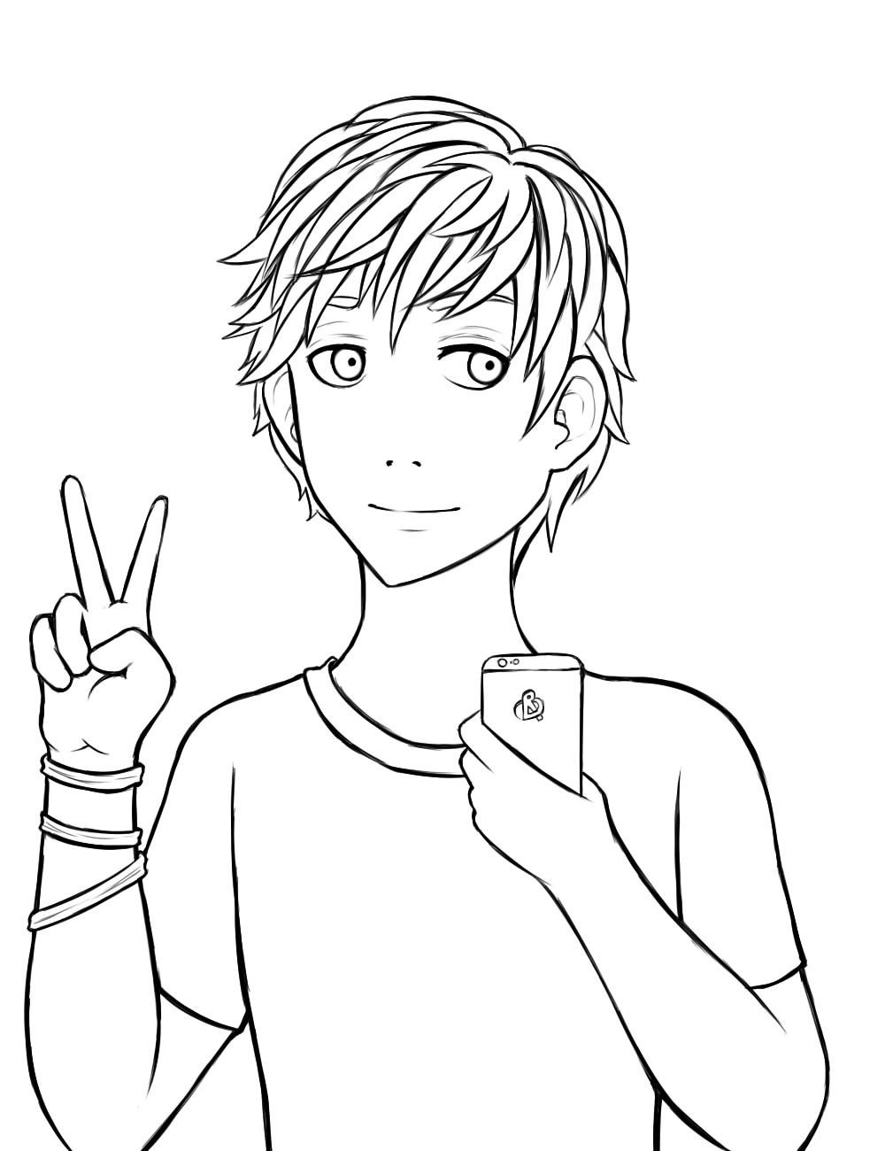 Animeboy Coloring Pages