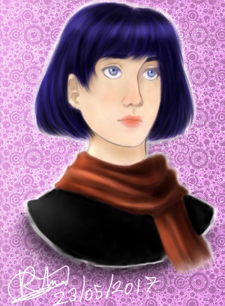 Short hair girl by robert2715