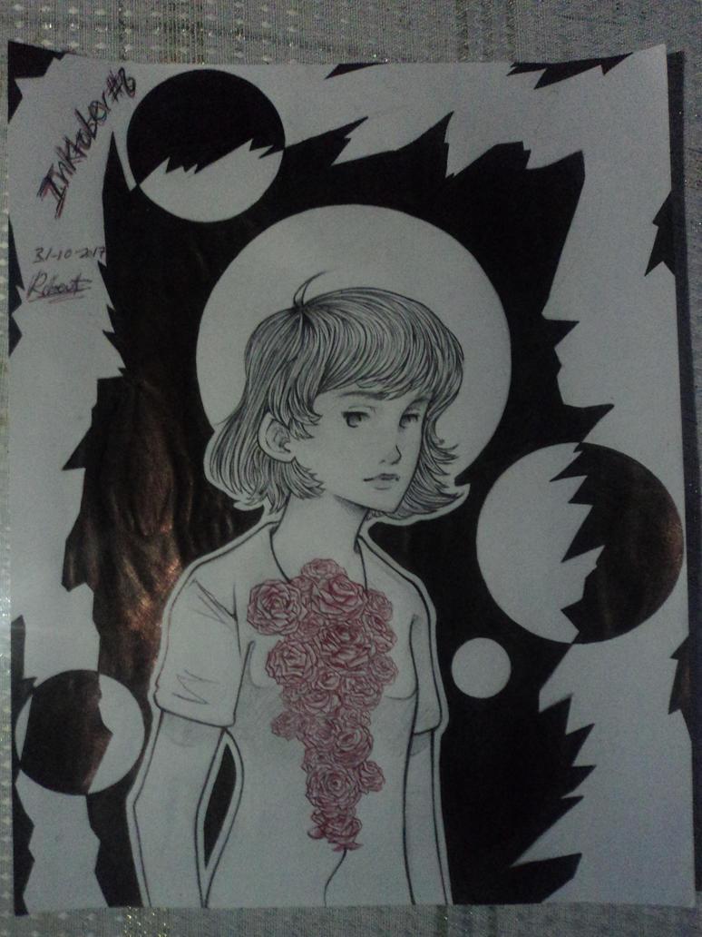 Inktober 8 -Red roses by robert2715