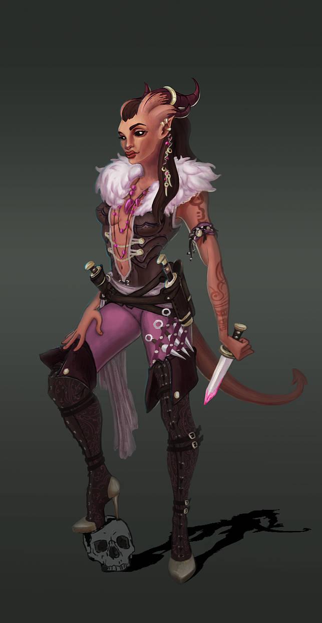 Final Tiefling Rogue by Tantalol on DeviantArt
