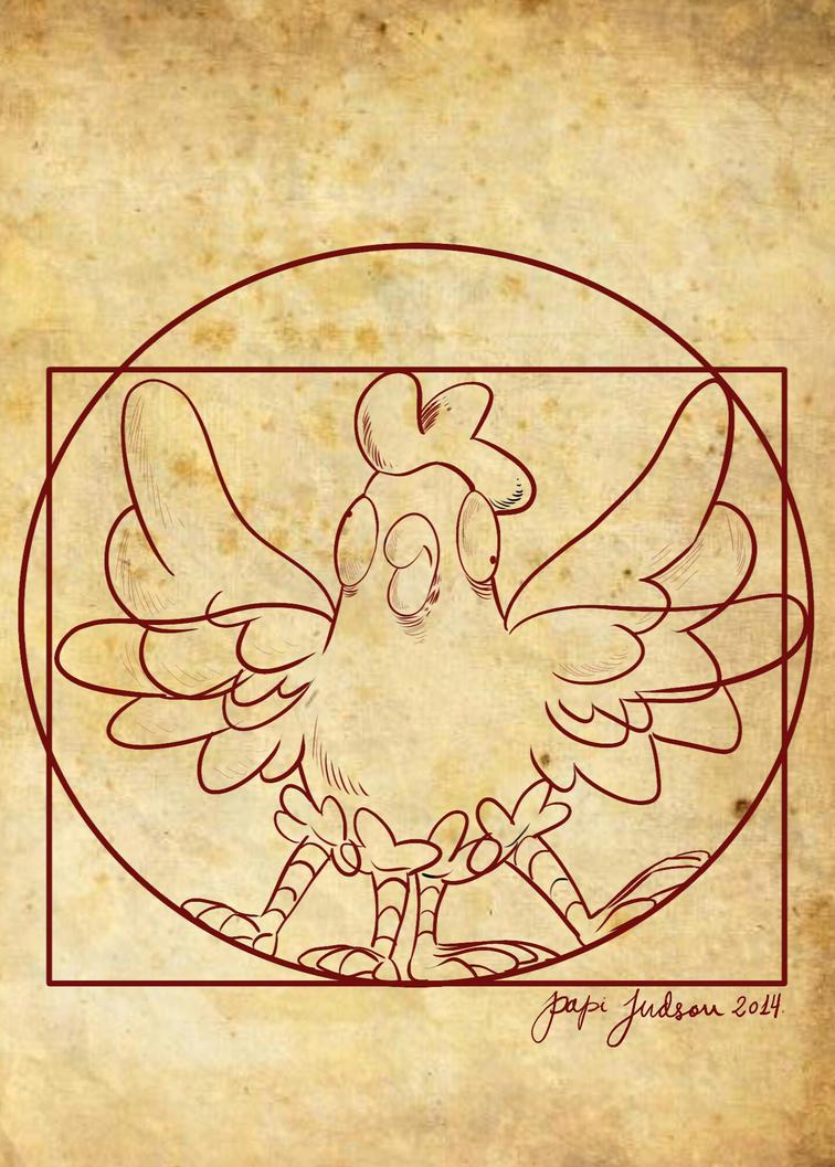 La gallina de Vitruvio by judson8