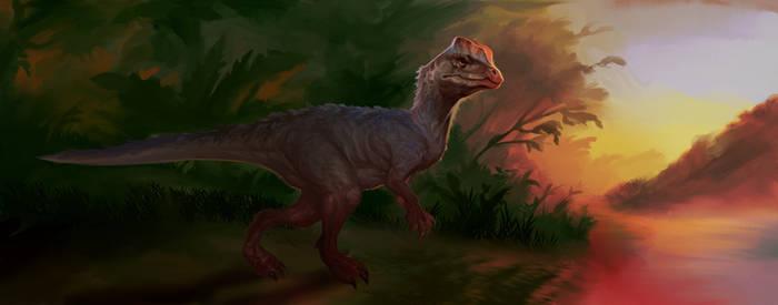 DILOPHOSAURUS con fondo