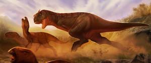Carnotaurus hunting