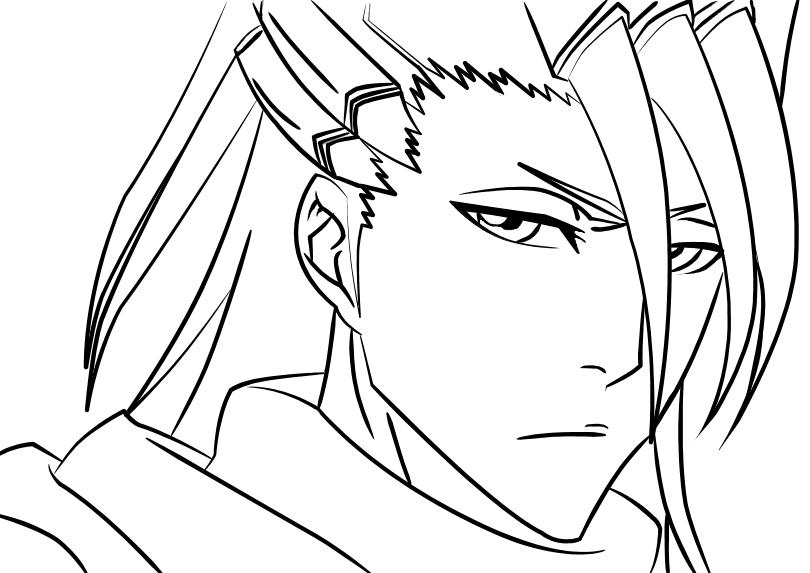 Kuchiki Byakuya Lineart By Uchiha-itachi111 On DeviantArt