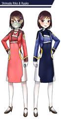 Character Design: Shimada Twins by GGSalmon