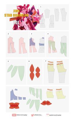 Jinx Star Guardian|Cosplay Pattern Tutorial | LOL