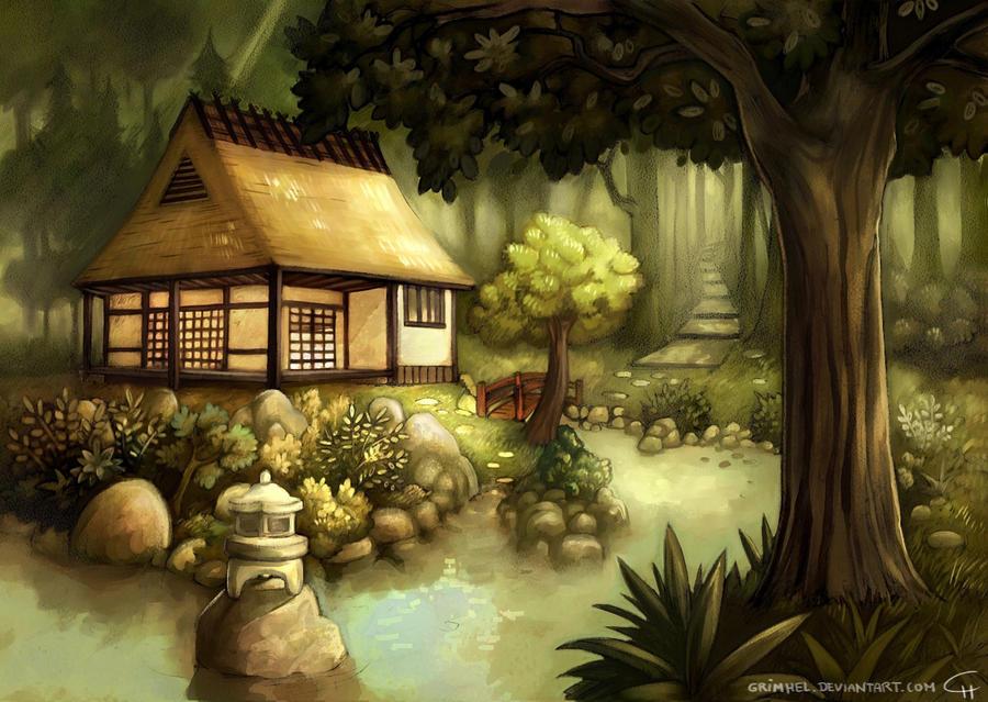 Nier und Nobu, Wie das projekt ein neues Ziel fand House_in_a_forest_by_Grimhel