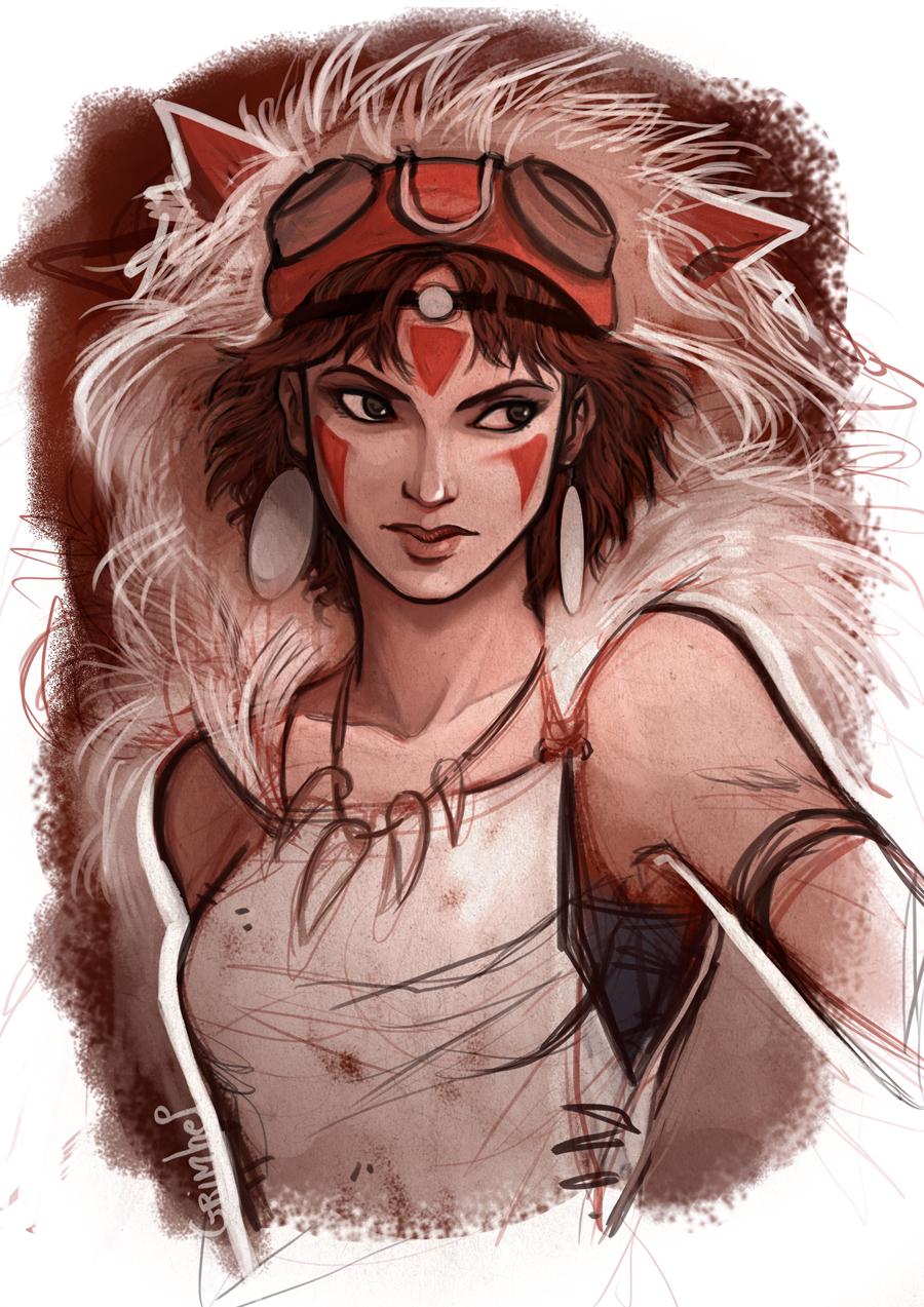 Princess Mononoke by Grimhel on DeviantArt