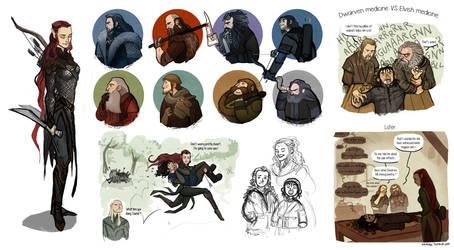 The Hobbit stuffs by Grimhel