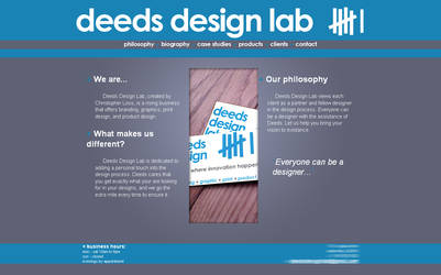 Web site - Deeds Design Lab
