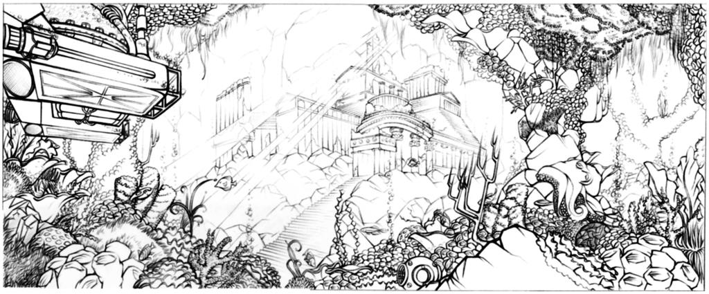how to draw concept art scenery