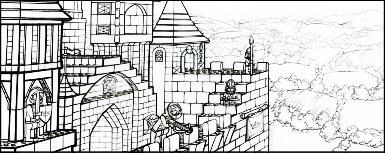 Lego Castle Lineart By Klassie On Deviantart