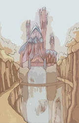 Cliffside Temple by Klassie