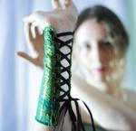 Elven Green and Black Bracers