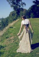 Sandy Flora Trailing Gown by TEMPERATE-SAGE