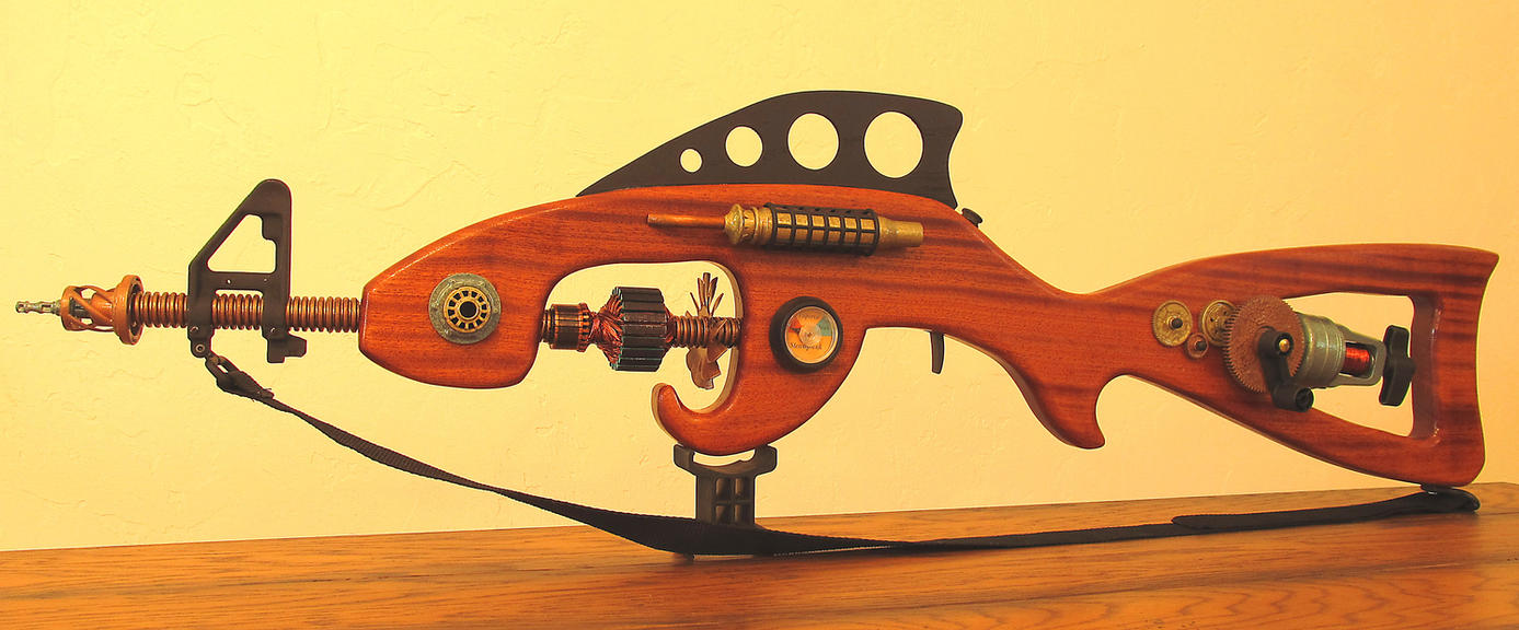 Steampunk Laser Rifle 'The Nautilus' by zimzim1066