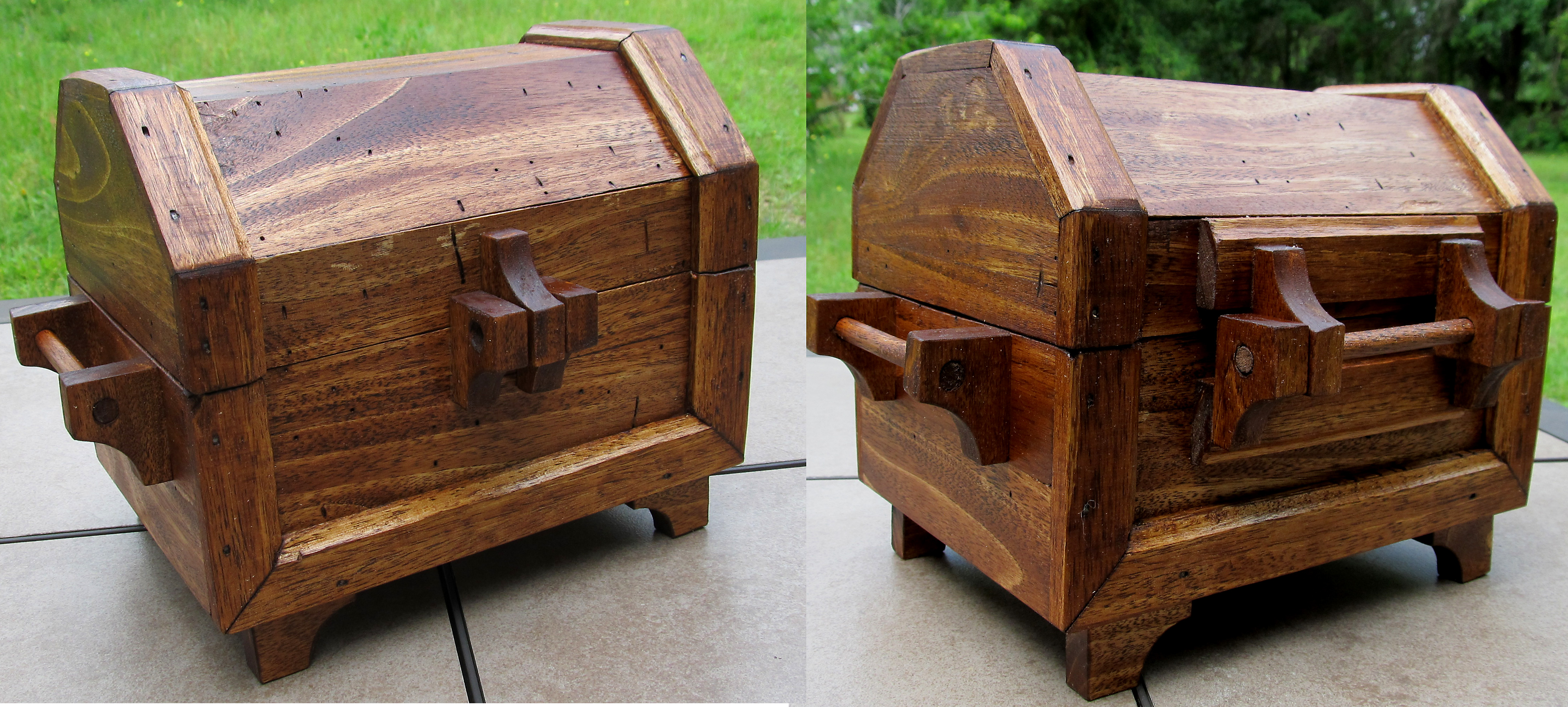 All Wood Treasure Chest By Zimzim1066 On DeviantArt. Full resolution  portraiture, nominally Width 5000 Height 2256 pixels, portraiture with #673D21.