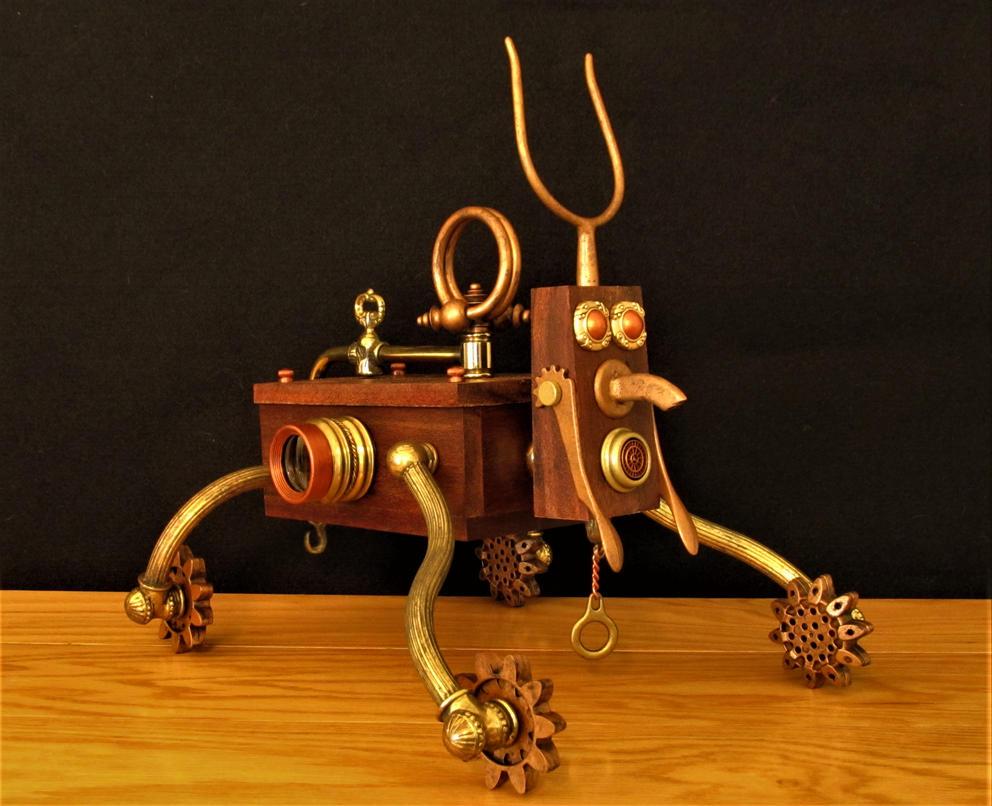 Steampunk assemblage K9 by zimzim1066