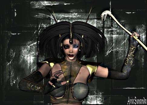 Cyber witch by Avia-Sunanda