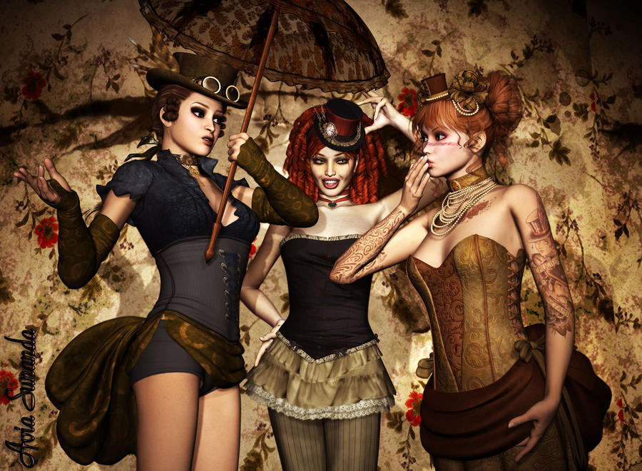 Victorian Girl Tattoos Victorian Girls by
