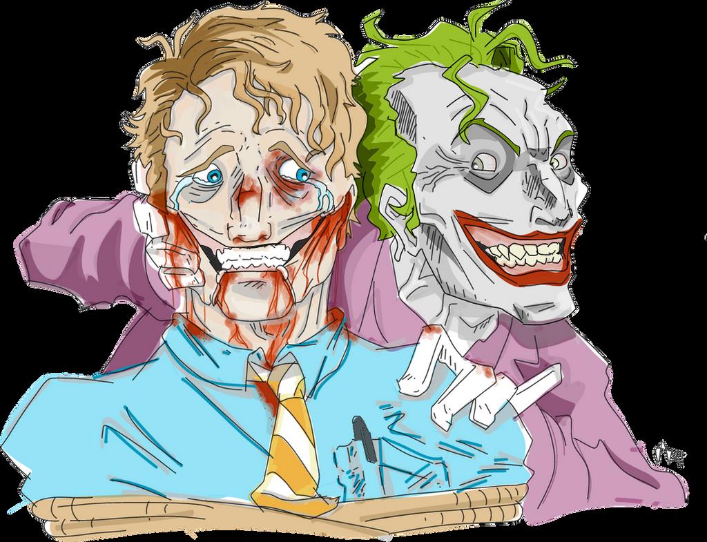 The Joker Torturing A Guy By Anikavandermeulen On Deviantart