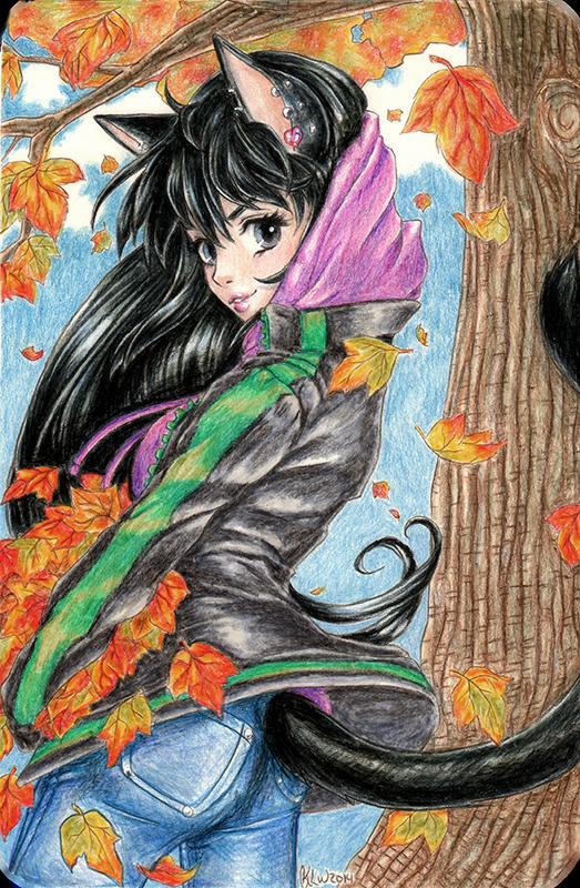 Falling Leaves by KimiCookie