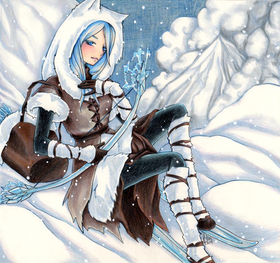 Skadi, Goddess of Winter by KimiCookie