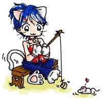 Kitty Korner - Fishing by kurosu