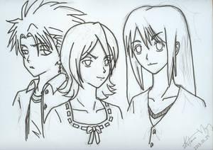 Rukia with Toushirou and Momo