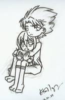 Toushirou and Rukia by kurosu