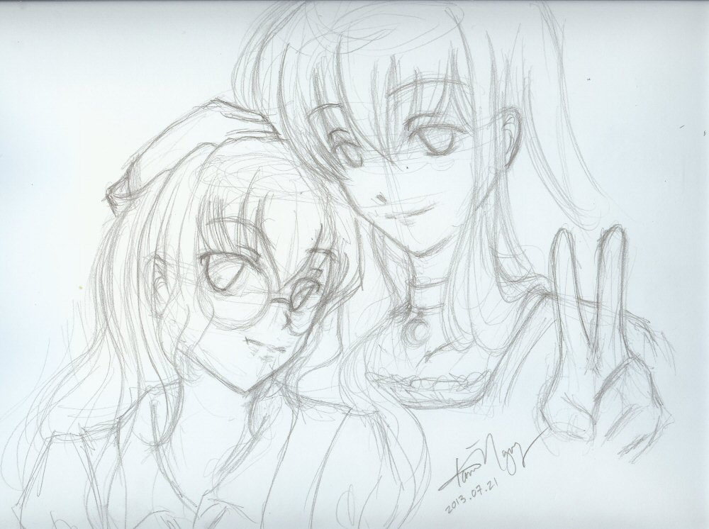 Mayura and Hel-chan by kurosu