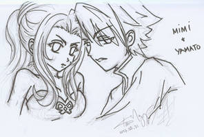 Mimi and Yamato by kurosu