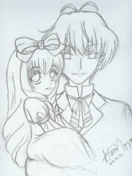 Chibi-Mayura and Kakusei Loki
