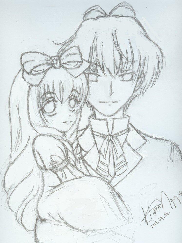Chibi-Mayura and Kakusei Loki by kurosu