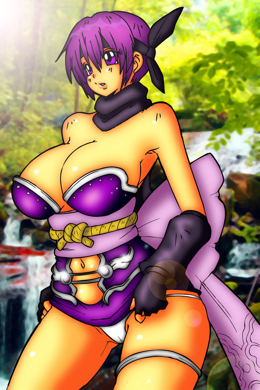 2Ayane color Darkknightstrikes by skyraptor