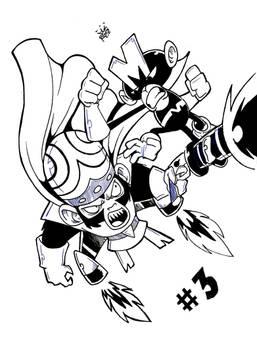Monkey vs Mojo - Inktober #3