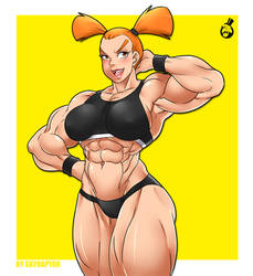 Muscle Girl by skyraptor