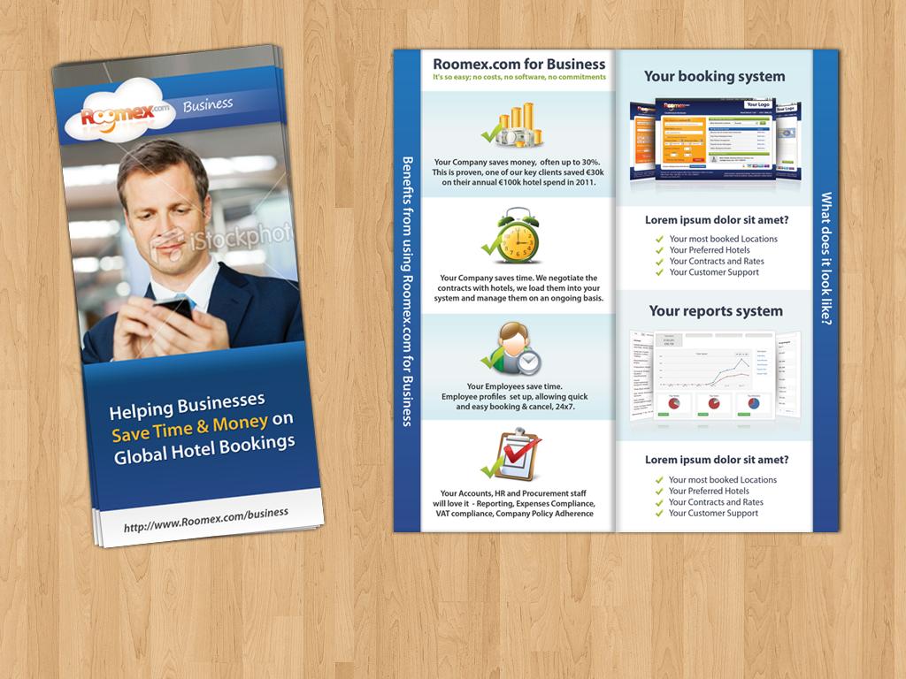Business travel flyer / brochure