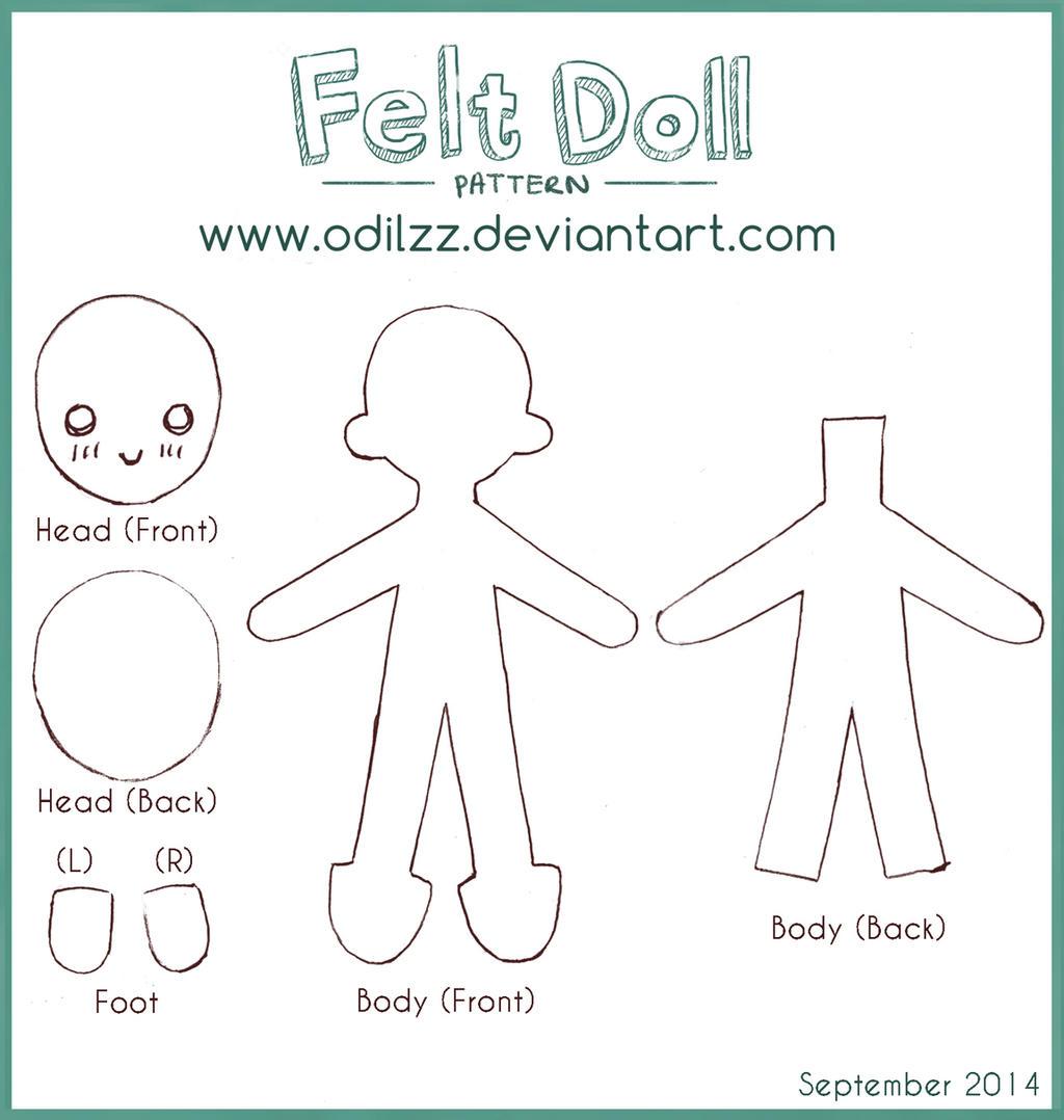 Felt doll pattern (new) by odilzz on DeviantArt