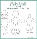Felt doll pattern (new)
