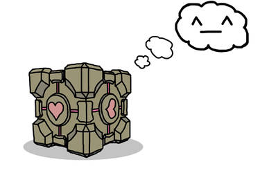 Companion Cube Love by TheAlmightyPingu