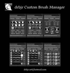 drbjr Custom Brush Manager - Photoshop CS6/CC $2 by drbjrart
