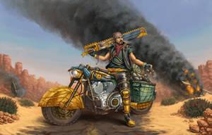 Apocalyptic Biker by drbjrart