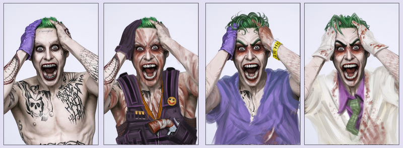 how to draw joker smile on hand