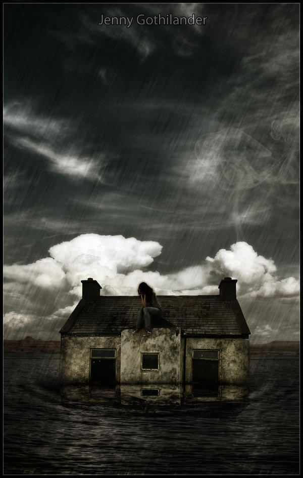 house in water by jego0320