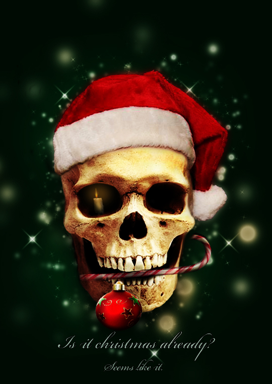 christmas skull by jego0320
