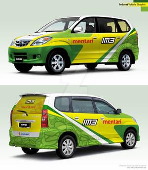 Indosat Vehicle Graphic