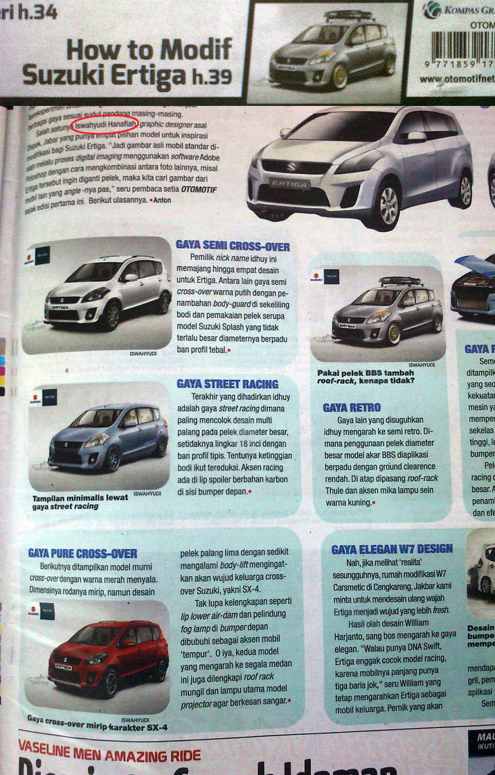 Modifikasi Suzuki Ertiga di Tabloid OTOMOTIF by idhuy