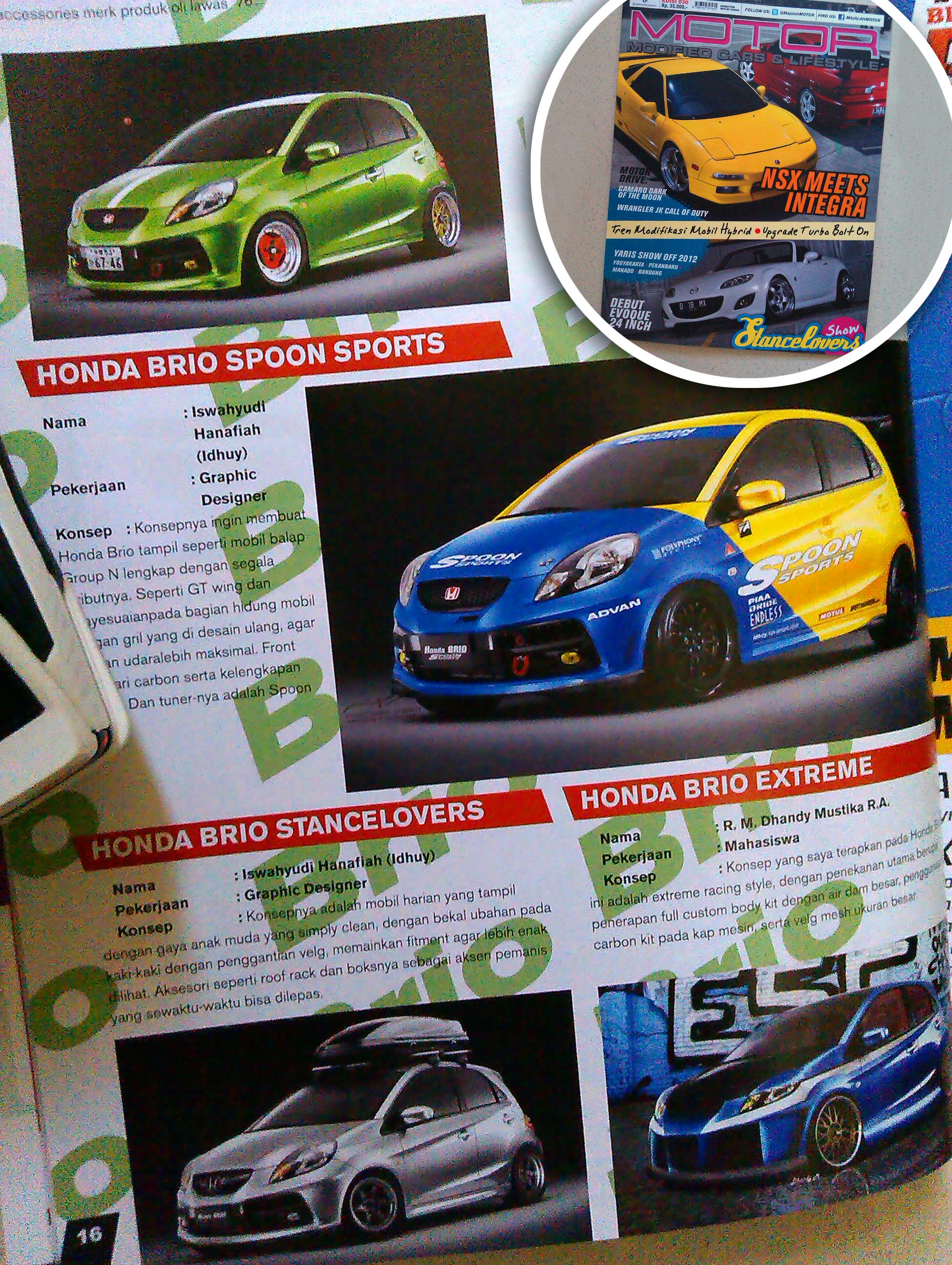 Modifikasi Honda Brio di Majalah MOTOR by idhuy